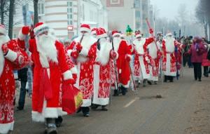 Шествие Дедов Морозов и Снегурочек прошло в Лиозно
