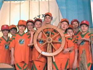 Команда учеников Добромыслинской СШ принимала участие в  съёмках телеконкурса для детей и подростков «Бухта капитанов»
