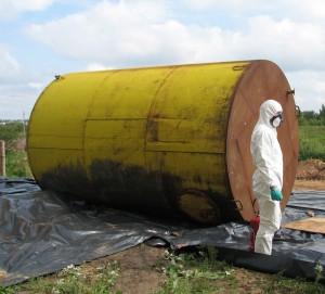 В Лиозненском районе утилизируются опасные химикаты