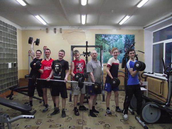У лиозненских школьников есть возможность заниматься бодибилдингом в одной из спортивных секций СШ №1 г. п. Лиозно