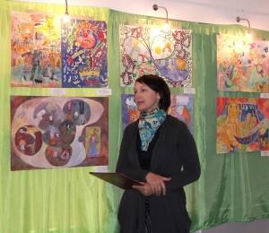 В районном музее открылась выставка детского творчества, посвященная Шагалу
