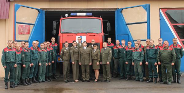 Коллектив Лиозненского РОЧС отметил 160-летие пожарной службы Беларуси