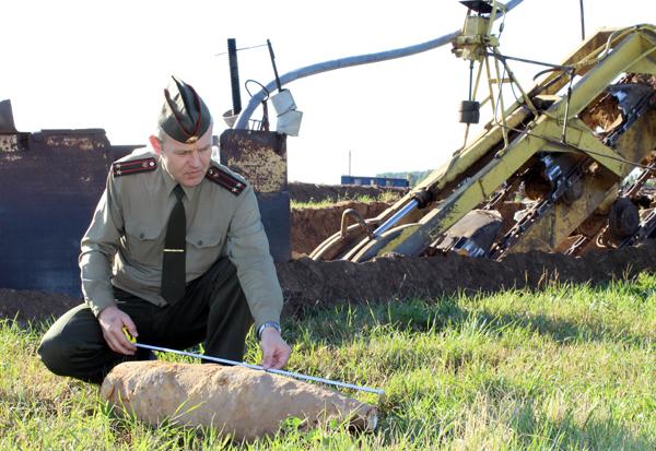 Недалеко от Лиозно найден боевой снаряд