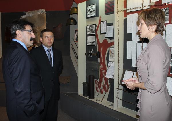 открытие бюста Марка Шагала в Лиозно