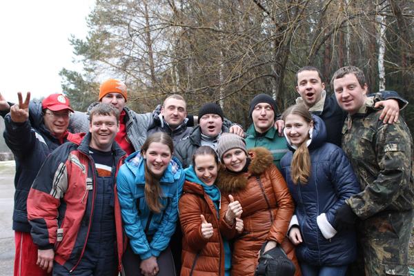 Молодежная команда Лиозненского района приняла участие в зимнем турслете