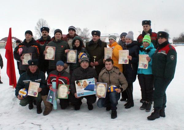 Победителем зимнего турслета в Лиозно стала команда МЧС