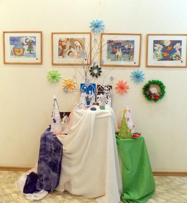 Рождественское настроение от добромыслинских юных художников