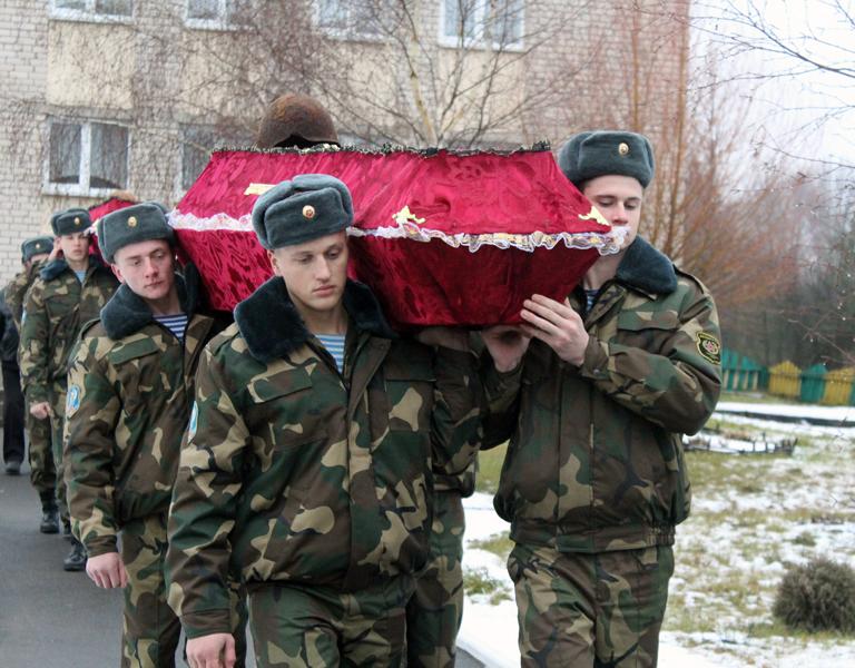 Перезахоронение советских воинов в аг. Бабиновичи