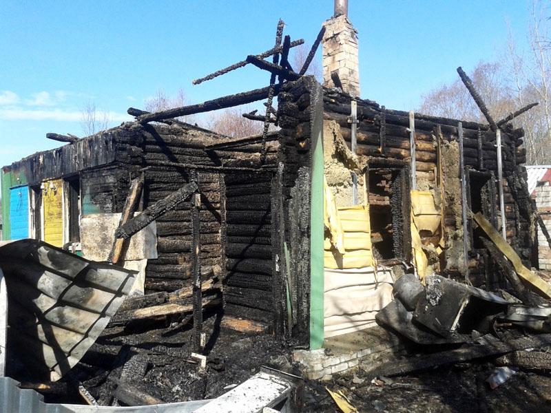 Сгорел дом в Заольше