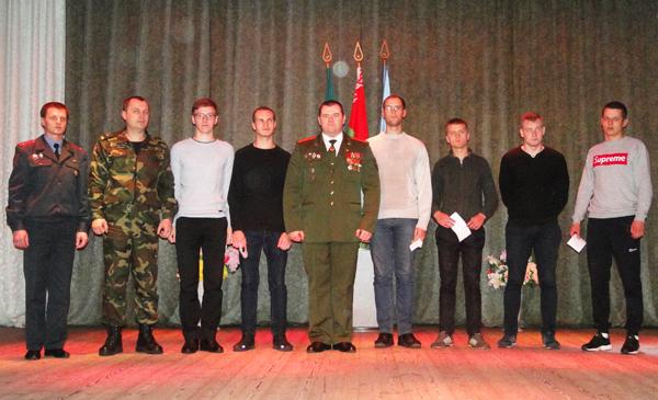 29 лиозненских призывников торжественно проводили в ряды Вооружённых Сил Беларуси