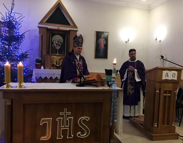 Лиозно посетил ординарий Витебской католической епархии епископ Олег Буткевич