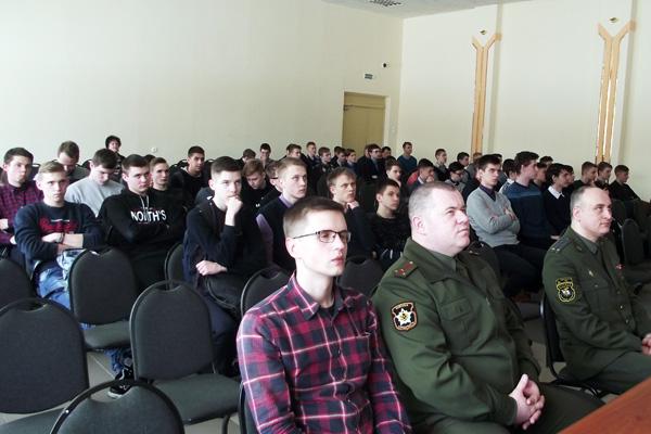 В СШ №1 г.п. Лиозно состоялась профориентационная встреча с представителем Военной академии Республики Беларусь