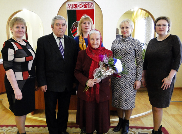 Юбилей отметила  жительница Лиозно Божена Томашевич