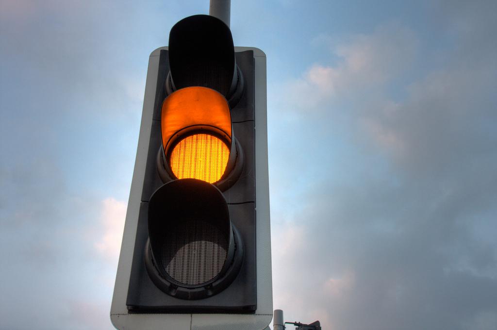 Пока светофор не работал