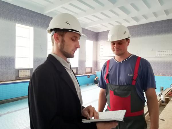 Строительство Лиозненского культурно-оздоровительного центра на завершающем этапе