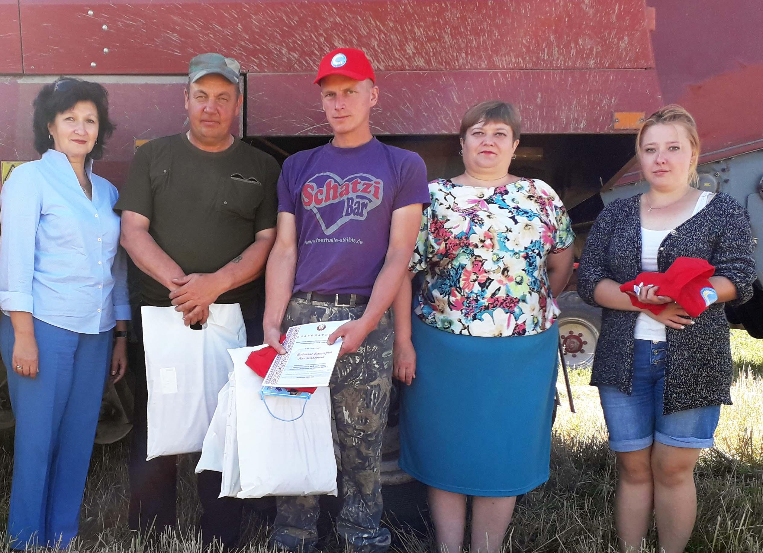 Два комбайнера Лиозненского района намолотили более чем по 500 тонн зерна