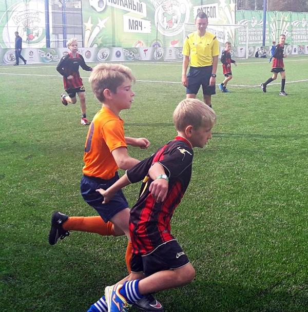 Финал соревнований среди детей и подростков по футболу «Кожаный мяч»