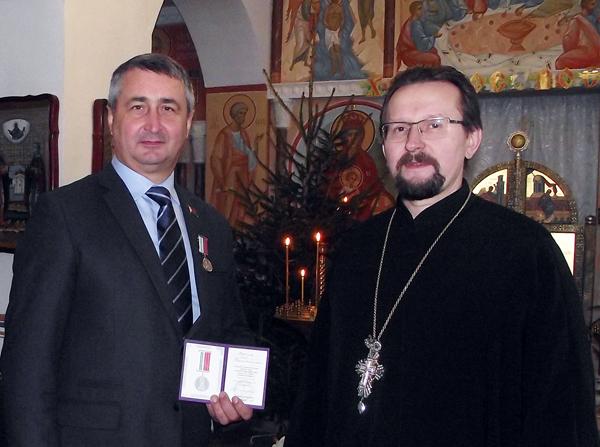 Депутату Витебского областного Совета депутатов О. В. Жингелю вручена медаль
