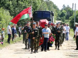 Вблизи деревни Старь состоялась торжественная церемония перезахоронения останков 36 советских воинов