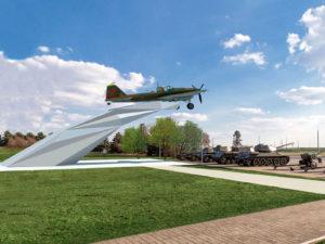 У подножия мемориального комплекса «Курган Славы» будет установлен Легендарный штурмовик Ил-2
