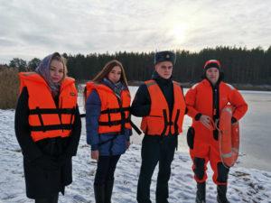 Акцию «Зимний патруль» провели Лиозненский РОЧС и БРСМ