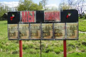 Накануне праздника Великой Победы активисты установили стенд «Мы помним» в д. Уно