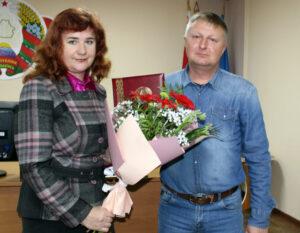 Провели на заслуженный отдых старшего инспектора ДПС ОГАИ Лиозненского РОВД С.В. Коловайтиса