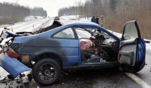 В Лиозненском районе в ДТП с участием трех автомобилей погиб мужчина