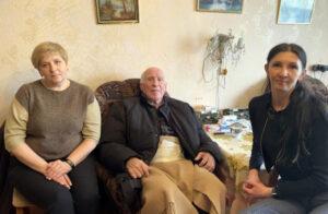 Ветерана войны И.Р.Воробьева поздравил профсоюз