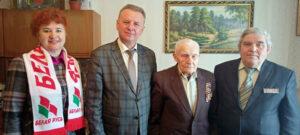 Ветерана войны К.К.Мизурова, поздравили с приближающимся Днём Победы