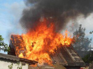 В д. Макаренки Лиозненского района произошёл пожар
