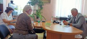 В Лиозненском райисполкоме  провел прием граждан и прямую телефонную линию член Совета Республики Национального собрания Республики Беларусь