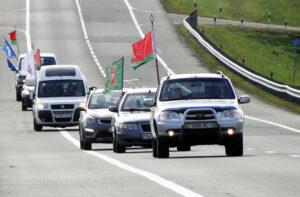 Лиозненцы радушно приняли участников автопробега «Символ единства» (ВИДЕО)
